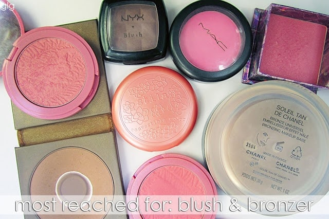 MOST REACHED FOR: BRONZERS AND BLUSH
