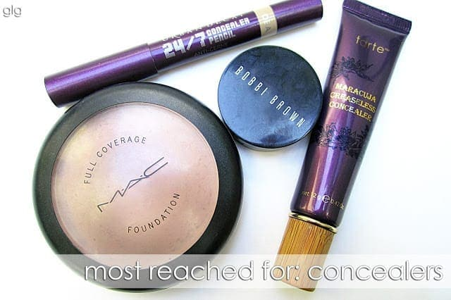 MOST REACHED FOR: CONCEALERS