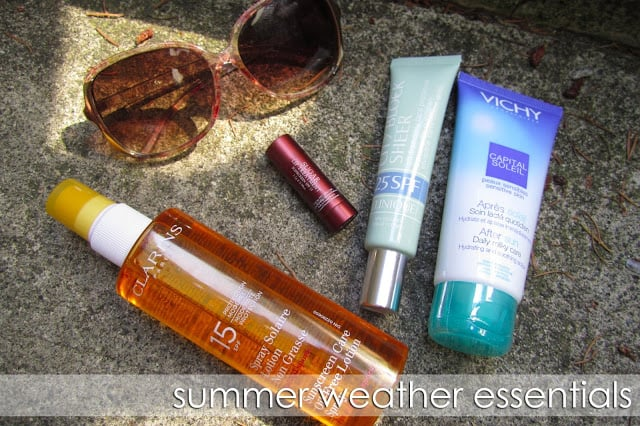Summer Beauty Essentials | Clarins SPF 15 Clinique City Block Fresh Sugar Vichy After Sun