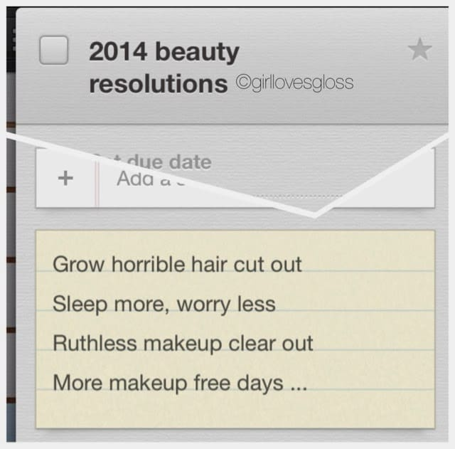 RESOLUTIONS | 2014 Beauty Edition