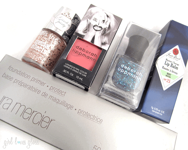 Laura Mercier Primer, nails inc, deborah lippmann, jack black