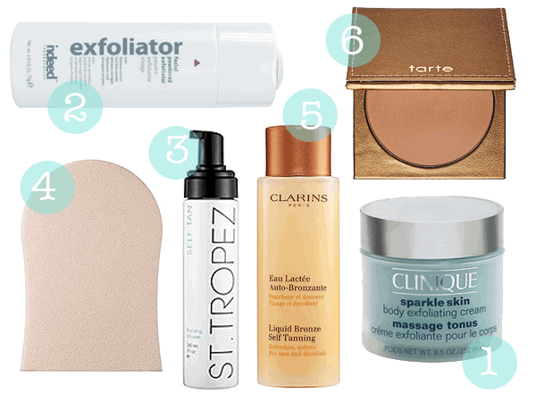 Self Tanning Favourites Tarte, St Tropez, Clinique, Clarins, Indeed Labs