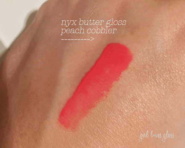 NYX Butter Gloss Peach Cobbler www.girllovesgloss.com