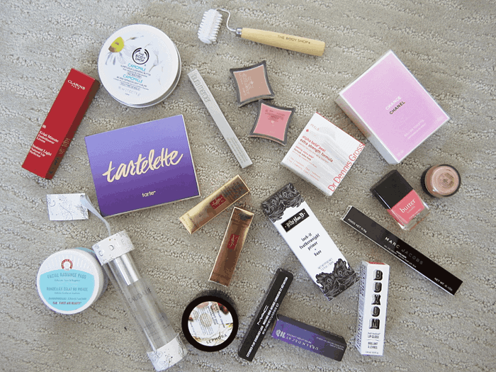 Girllovesgloss.com haul, marc jacobs, mac, kat von d, buxom, chanel, the body shop, clarins, tarte, caudalie, first aid beauty, ysl, urban decay, butter london, illamasqua, laura mercier,