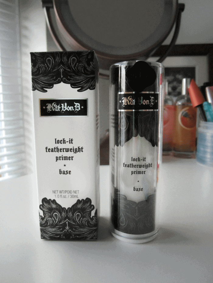 Kat Von D Lock-It Featherweight primer on girllovesgloss.com