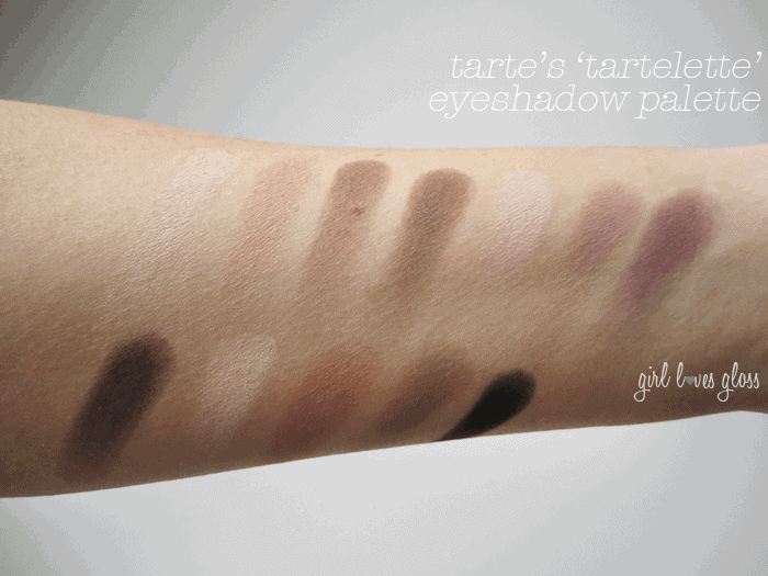 Girl Loves Gloss Makeup and Beauty Blog Tarte Tartelette Palette Matte Eyeshadow swatches