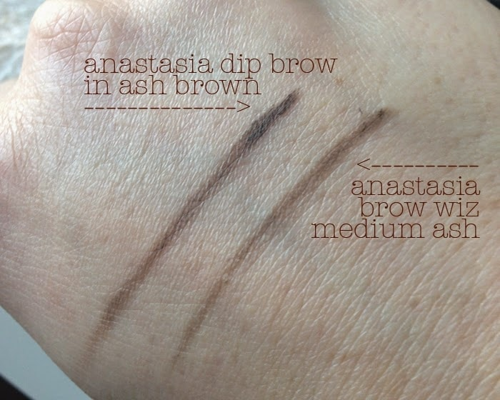 anastasia beverly hills dipbrow pomade in ash brown swatch brow wiz medium ash