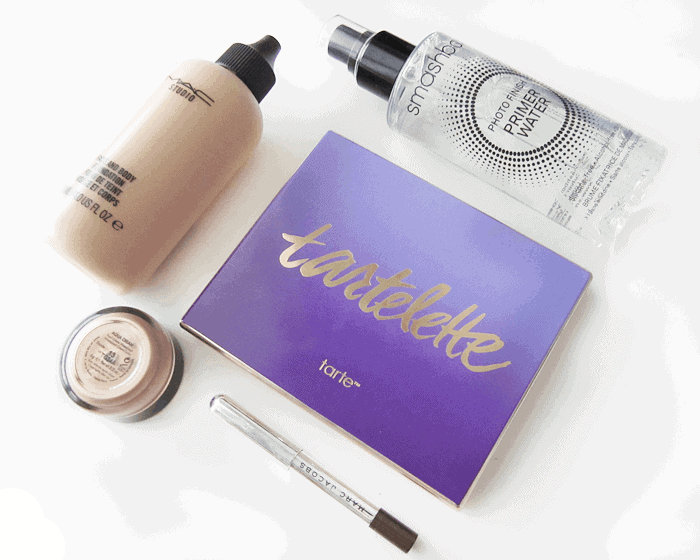 January Beauty Favourites 2015 girllovesgloss.com mac face and body, smashbox primer water, tarte tartelette palette, make up for ever aqua cream ,marc jacobs brownout