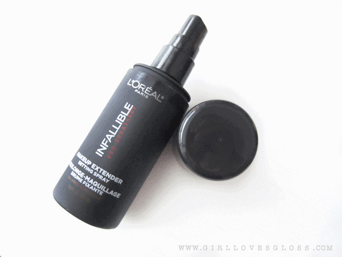 L'Oreal Infallible makeup Extender Setting Spray on girllovesgloss.com