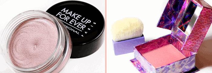 make up for ever aqua cream 16, benefit bella bamba blush