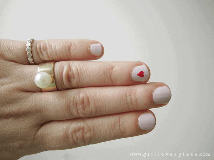valentines heart nail polish tutorial girllovesgloss.com