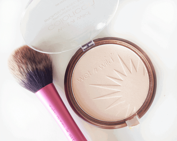 wet n wild reserve your cabana highligher swatch, the balm mary-lou manizer, becca shimmering skin perfector