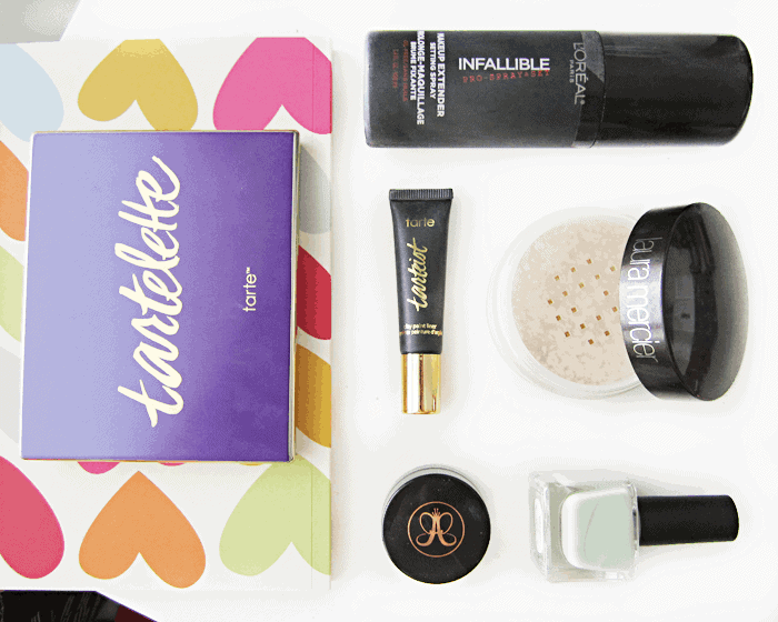 february makeup beauty nail favourites, tarte, loreal, urban outfitters, laura mercier, anastasia beverly hills dipbrow