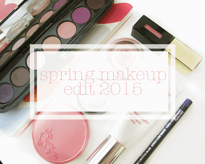spring makeup, marc jacobs beauty the tease palette, ysl glossy stain 27, mac paint pot perky, tarte blush blissful, benefit creaseless cream rsvp, clarins instant complexion base