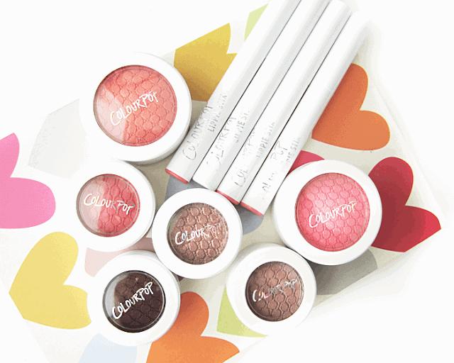 ColourPop cosmetics review eyeshadow, blush, lippie stix, swatches