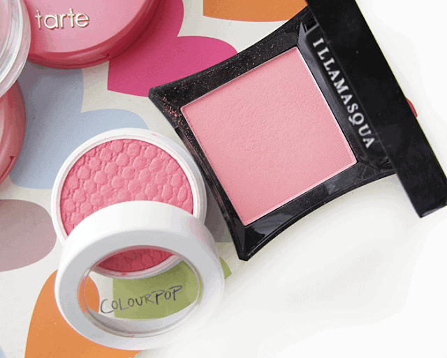 summer makeup blush favourites, tarte, colourpop, illamasqua, clinique
