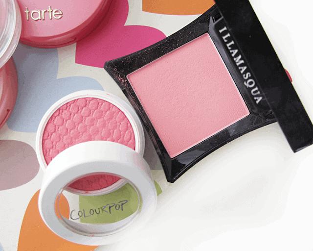 summer makeup blush favourites, tarte, colourpop, illamasqua, clinique
