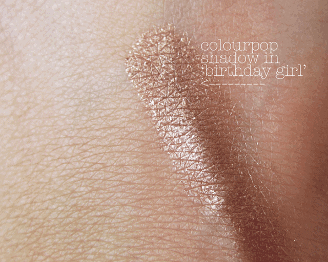 colourpop birthday girl shadow swatch review
