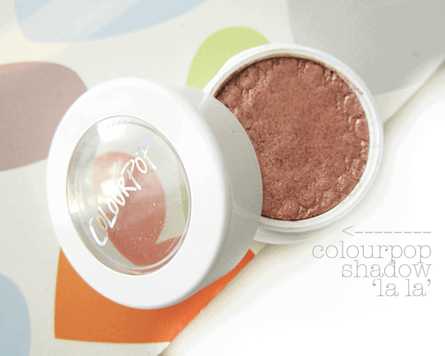 Colourpop.com cosmetics la la rose gold eyeshadow