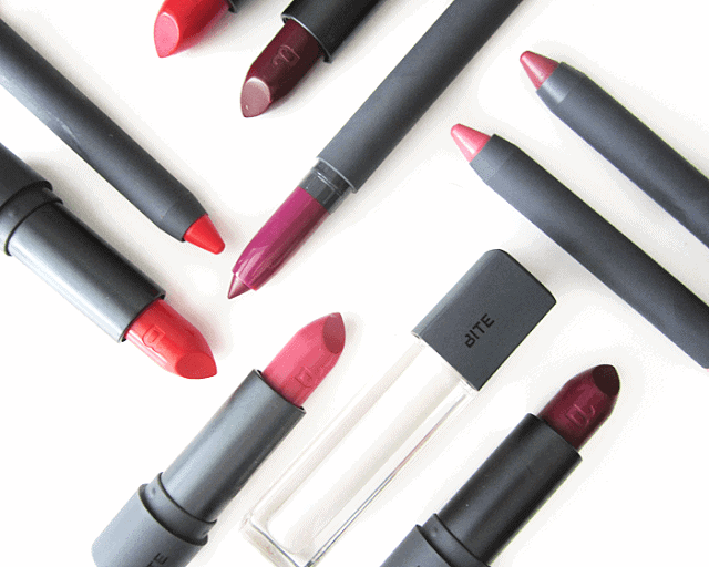 Bite Beauty High Pigment Pencil, Matte Creme Lipstick, Luminous Creme lipstick, Creme Lip Gloss Opal, Maple Collection fall 2015