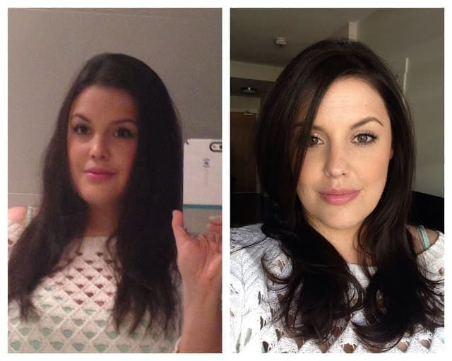 Before and after of my trip to The Aveda Institute Vancouver Gastown