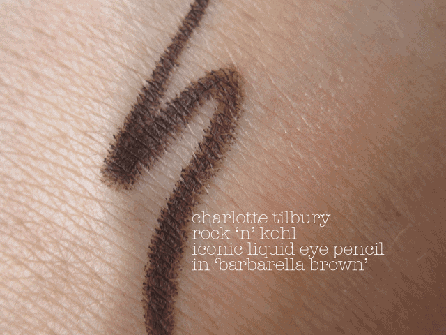 charlotte tilbury rock 'n' kohl iconic liquid eye pencil in barbarella brown