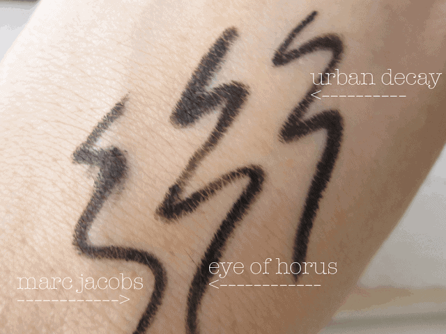 Eye of Horus Smokey Black Goddess Pencil Review and Swatch