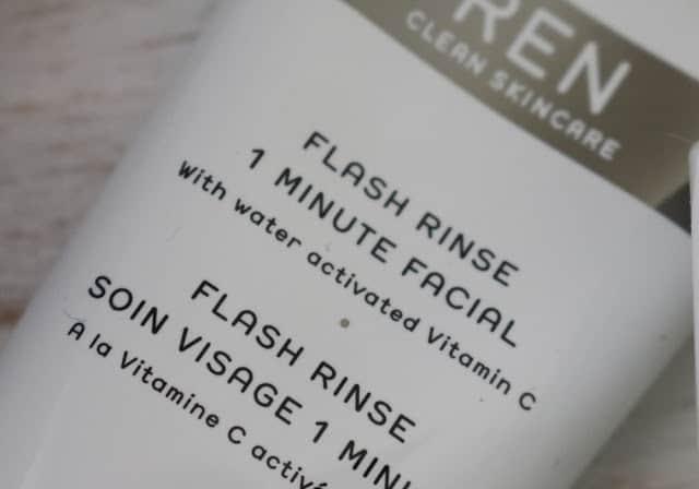 REN Skincare Flash Rinse 1 Minute Facial Review