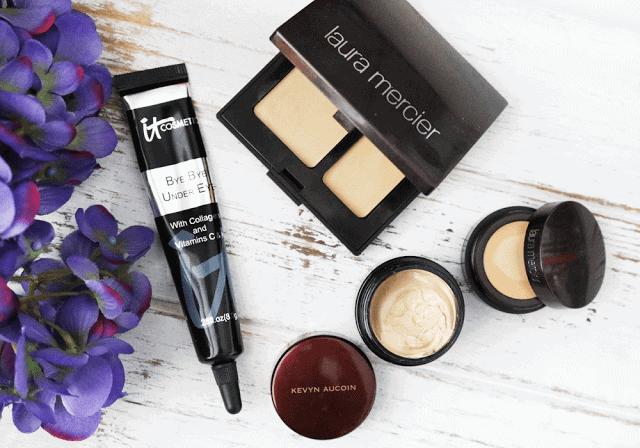 IT Cosmetics Bye Bye Undereye, Laura Mercier Secret Camouflage and Secret Concealer, Kevyn Aucoin Sensual Skin Enhancer