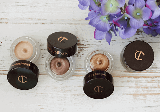 Charlotte Tilbury Eyes to Mesmerize shadows in Norma Jean, Bette, Marie Antoinette, Mona Lisa