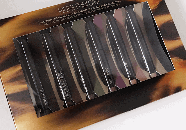 Laura Mercier Matte to Metal Caviar Eye Stick Colour Holiday 2015 swatches
