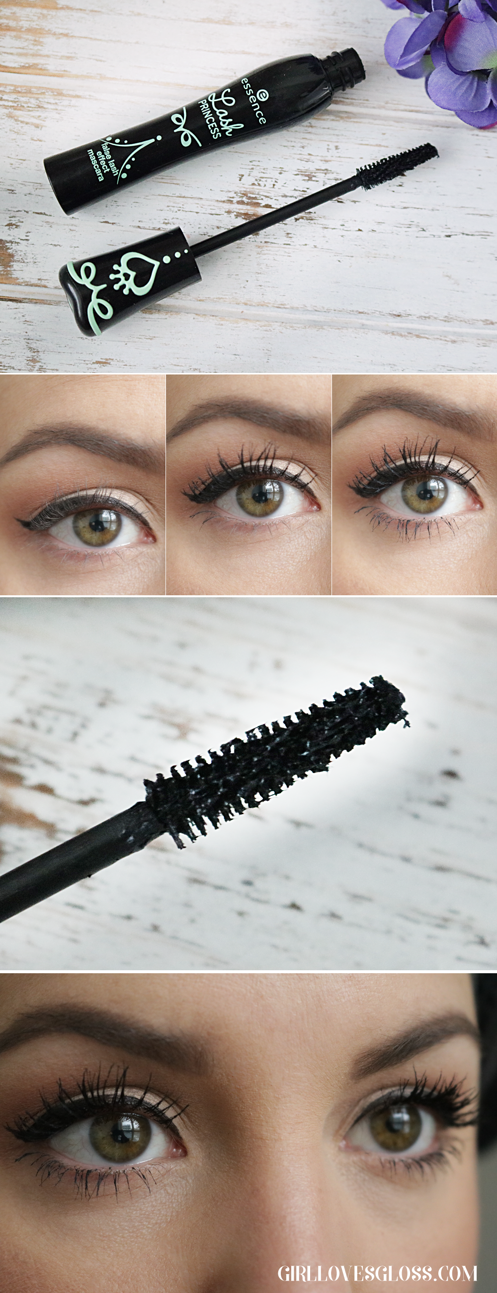 Essence Lash Princess Mascara Review with Before and After