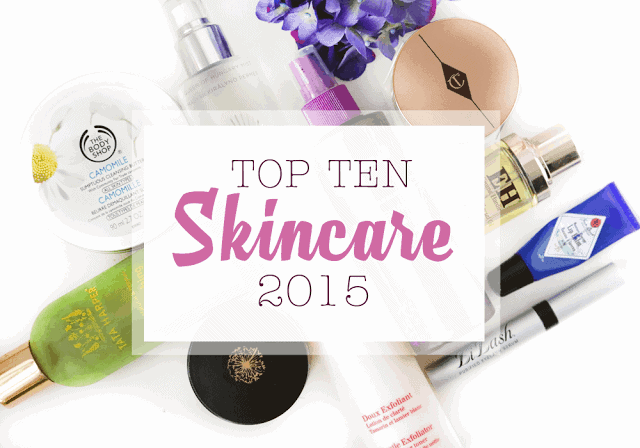 Top Ten Skincare for 2015 : Tata Harper, Charlotte Tilbury, May Lindstrom, Omorovicza, Jack Black, LiLash, Clarins, Fake Bake, Emma Hardie