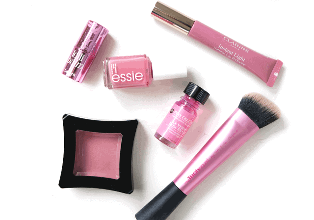 Six Favourite Pink Products: Illamasqua, Clarins, Benefit, Real Techniques, Essie