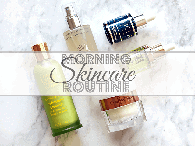 My morning skincare routine products: Tata Harper, Omorovicza, Oskia, Emma Hardie, Charlotte Tilbury