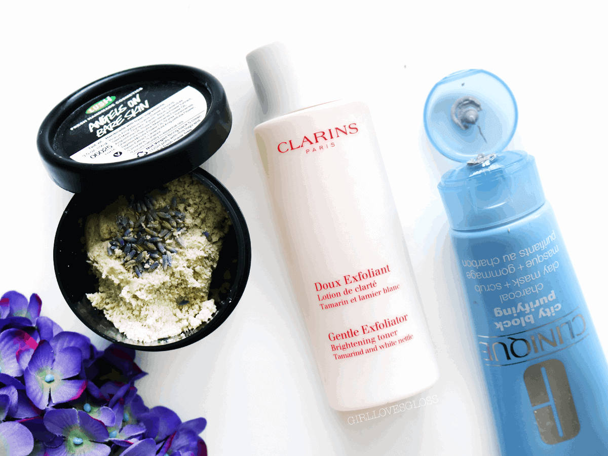 3exfoliators3Best Exfoliators by Clarins, Lush and Clinique