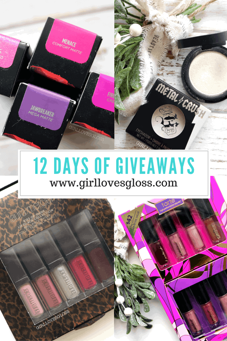 12 Days of Giveaways Day 9, 10, 11 and 12: Kat Von D, Tarte, Urban Decay and Laura Mercier