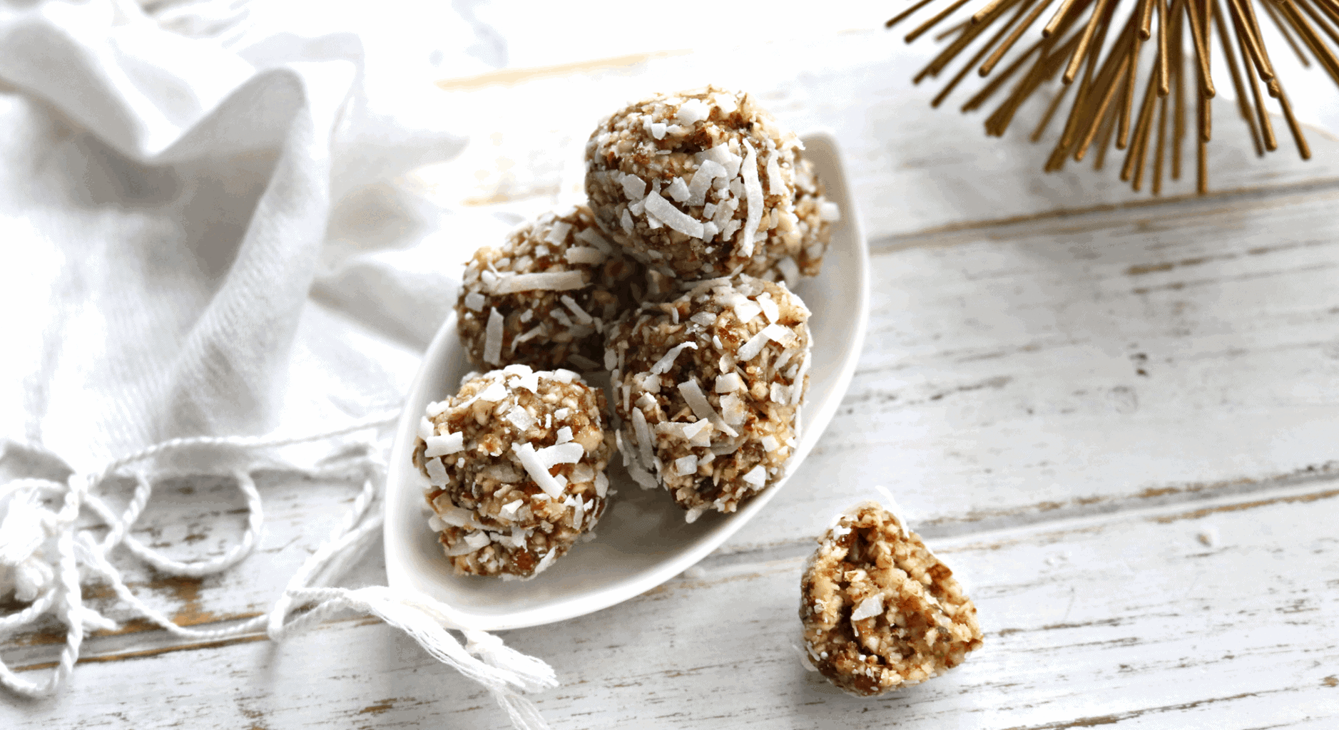 No Bake Lime Coconut Vegan Energy Bites