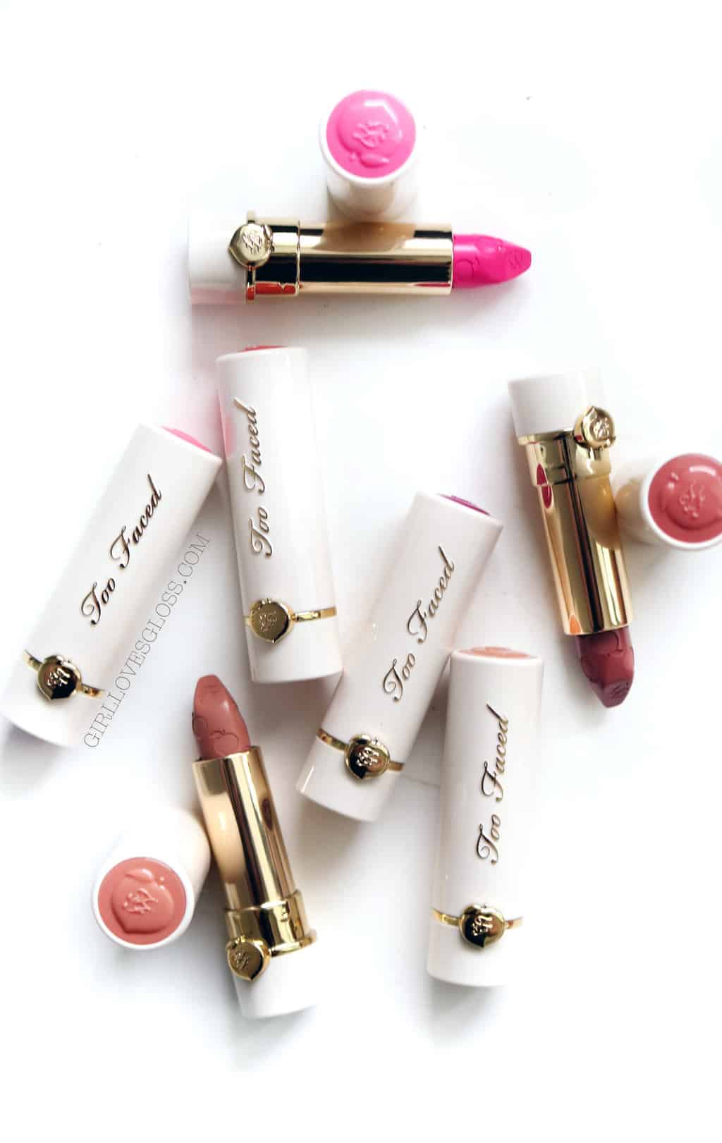 Too Faced Peach Kiss Lipsticks Giveaway