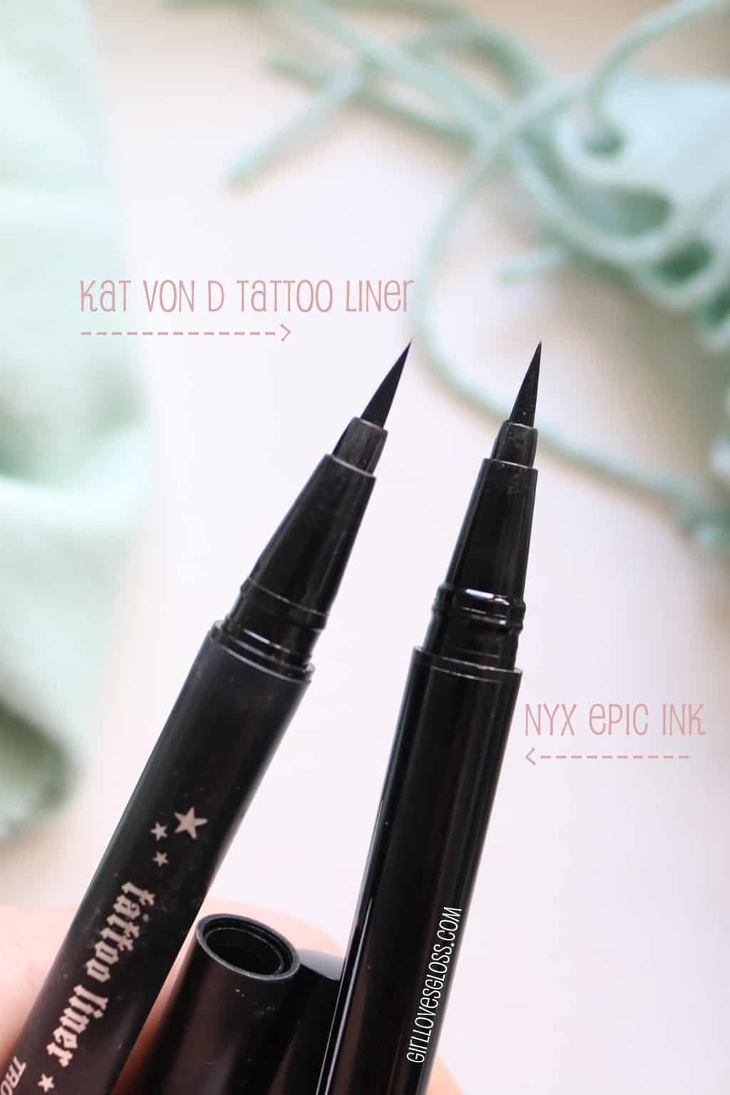 NYX Epic Ink vs Kat Von D Trooper Eyeliner