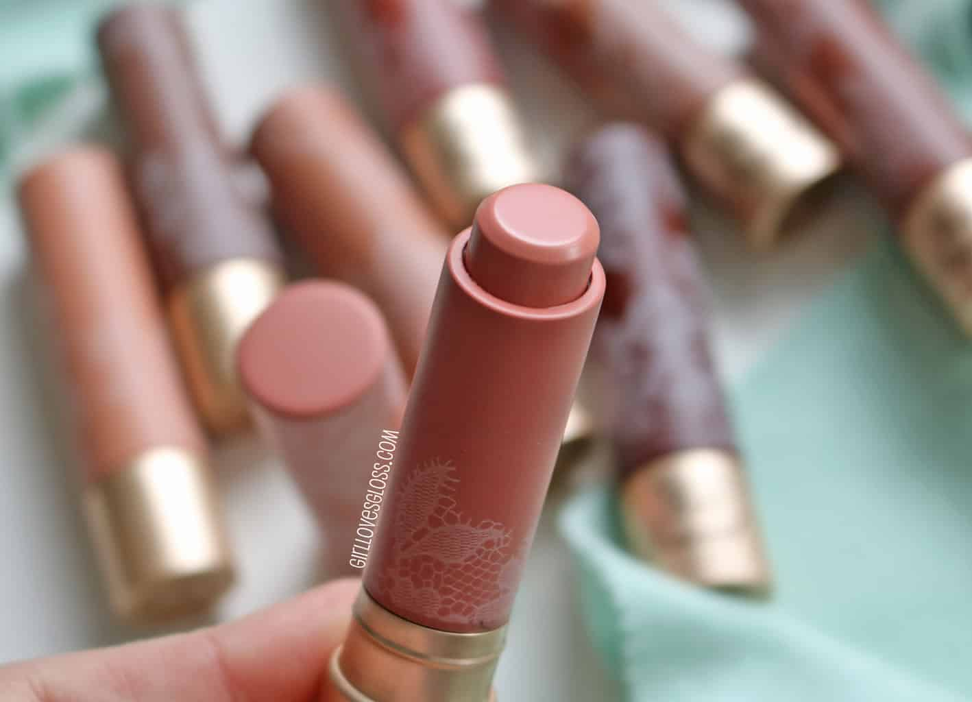 Too Faced Natural Nudes Lipstick Swatches and Review