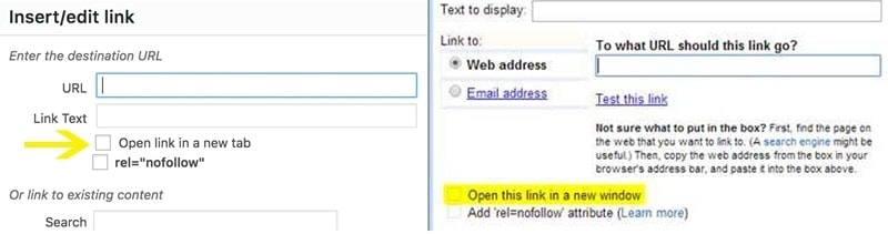 How to make blog links open in new window or tab