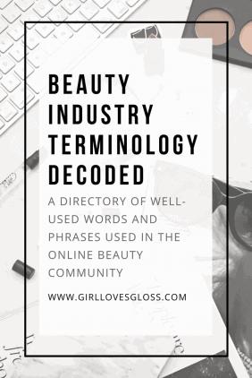 Beauty Terminology Glossary