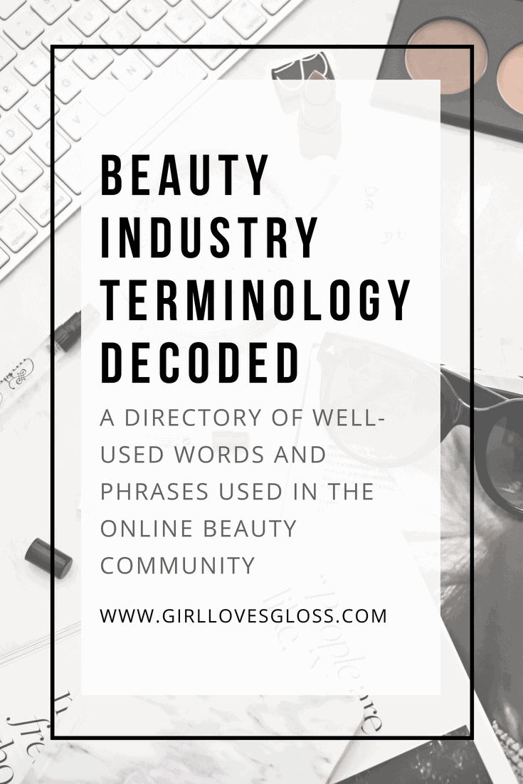 Beauty Terminology Glossary