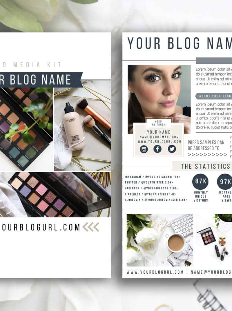 NAUTICA Blogger Influencer Media Kit Template