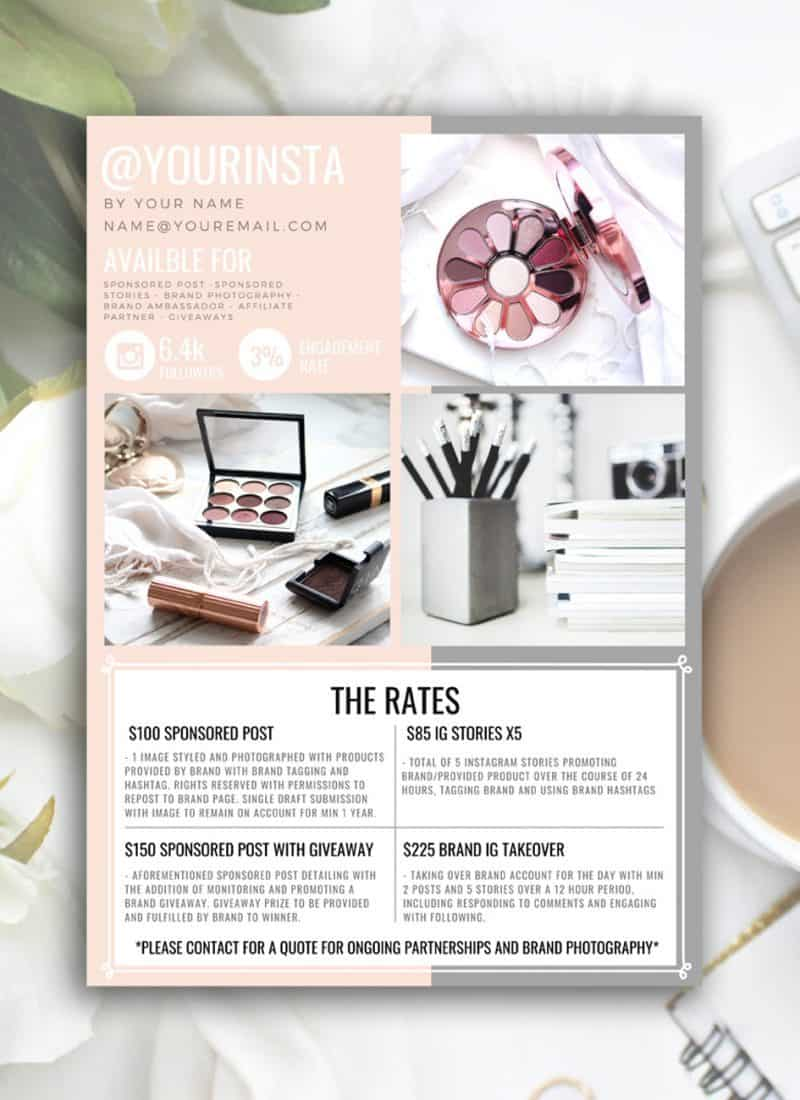 PEACHES rate sheet template