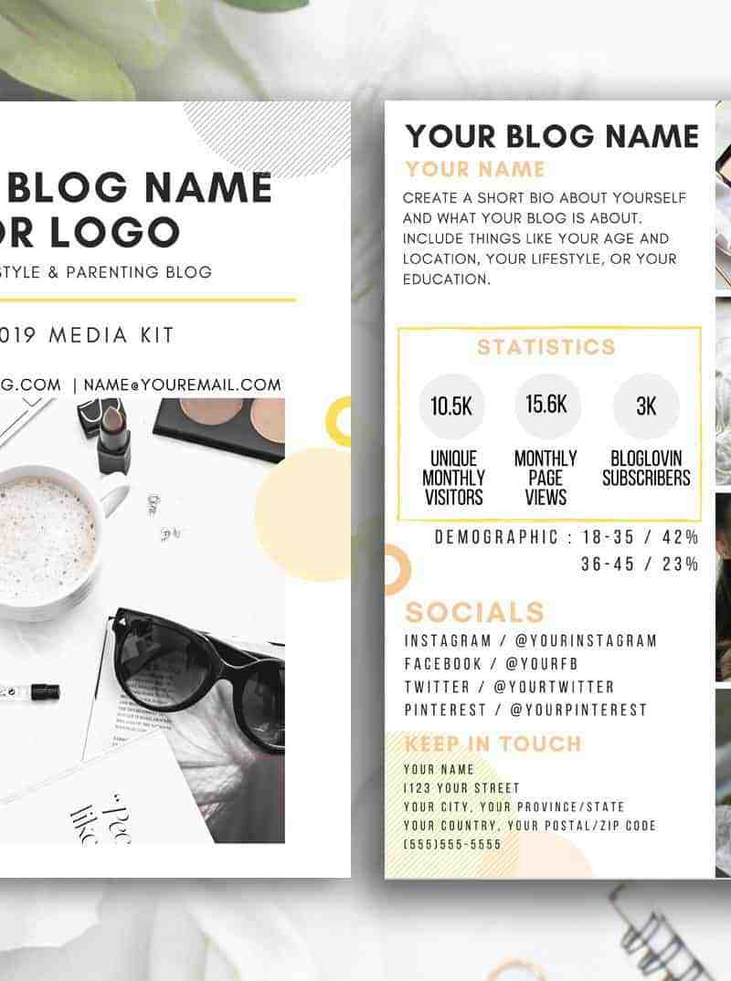 SUNNY Blog Influencer Media Kit