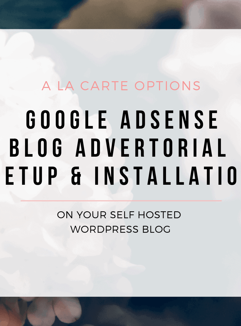 Google Adsense Installation and Setup Service