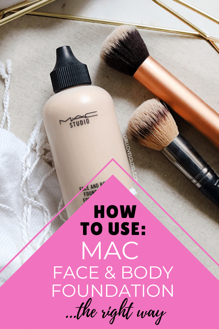How to use MAC face and Body Foundation the right way