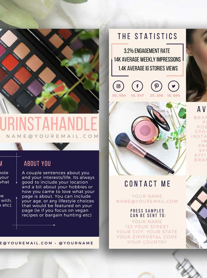 AUBERGINE Blogger Influencer Media Kit Template